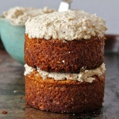 Maple Coconut Mini Cakes w/  Maple Coconut Walnut Cream Frosting Recipe on Food52 recipe on Food52