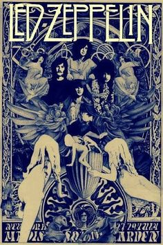 Led Zeppelin The Starship Airplane Music Art Print Poster Wall Decor Classic Image John Bonham, Led Zeppelin Poster, Led Zeppelin I, Hard Rock, Pop Rock, Rock Roll, Heavy Metal, Music Background, Kunst Poster