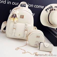 Fresh Stereo Flowers Small Bag Gift Circular Mini Shoulder Bag PU Lady Backpack