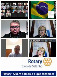Magazine de Noticias Boanerges Gonçalves: Noite do dia 26/06/2020, Reunião Virtual do Rotary... Rotary Club, Baseball Cards, Night