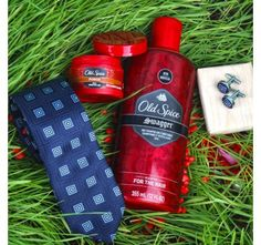 Tie Cufflink Gift Set with Old Spice Swagger Body Wash and Original After Shave