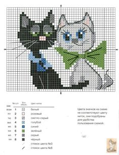 Cats cross stitch