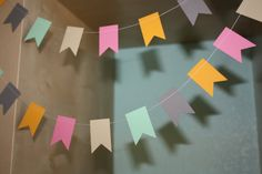 Hey, I found this really awesome Etsy listing at http://www.etsy.com/listing/129203883/rustic-pastel-paper-garland