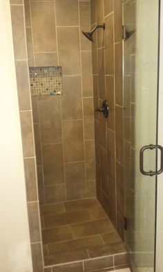 Small Bathrooms With Shower Stalls. Modern Guest Bathroom Designs With  Glass Door And Corner Shower