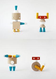 Prodiż | Robole ✭ wooden robots connected with magnets ✭ kids toy design