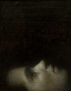 alejandro marco, El perfume_2011. Óleo sobre lienzo, 33x27cm.