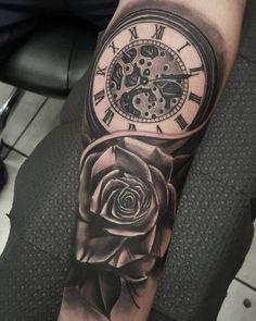 pocket watch tattoo48