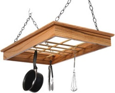 wood pot rack