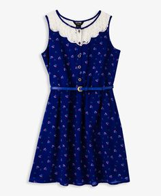 Floral & Lace Sleeveless Dress from Forever Saved to summer ☀. Young Fashion, Tween Fashion, Girl Fashion, Fashion Outfits, Cute Girl Outfits, Cool Outfits, Cute Dresses, Girls Dresses, Forever 21 Outfits