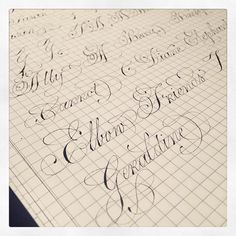 Loving the capitals even more! Creative Lettering, Cool Lettering, Lettering Styles, Brush Lettering, Handwritten Letters, Calligraphy Letters, Caligraphy, Calligraphy Practice, Drawing Letters
