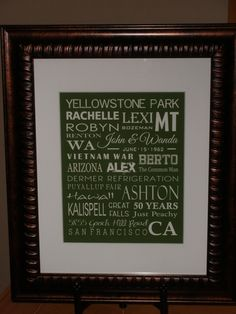 Gift for parents 50th wedding anniversary.  www.doodlegraphics.etsy.com