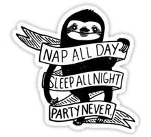 SLOTH: NAP AND SLEEP Sticker
