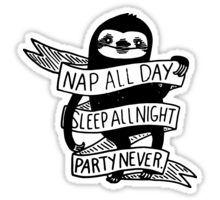 SLOTH: NAP AND SLEEP Sticker