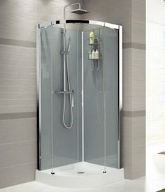 Douchecabine Kwartrond 85x85.Douche