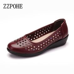 >> Click to Buy << ZZPOHE Summer Mother Sandals leather fashion soft soled ladies sandals casual comfortable non-slip pregnant women flat sandals #Affiliate