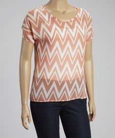 Take+a+look+at+the+Coral+Zigzag+Hi-Low+Top+-+Plus+on+#zulily+today!
