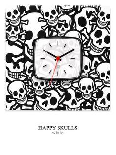 Happy Skulls white