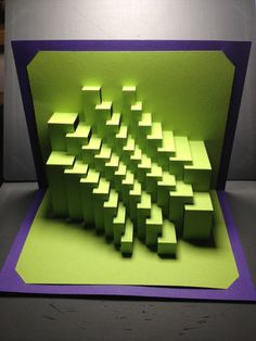 """DIY Template - """"Trochoid Stripes"""" Kirigami Pop-up paper sculpture Kirigami Templates, Origami And Kirigami, Libros Pop-up, Paper Structure, Pop Up Art, Paper Engineering, Soft Sculpture, Sculptures, Geometry Pattern"""