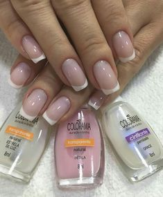 53 ideas for nails art french manicure ongles French Nail Designs, Gel Nail Designs, Nails Design, Simple Pedicure Designs, Trendy Nail Art, French Nails, French Polish, French Toes, French Manicures