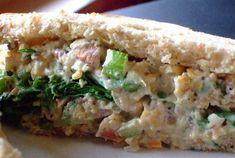 """it's called vegan """"chicken"""" salad, but it's really the most awesomely simple sandwich you can eat with no guilt. think of it that way and you'll warm up to it a bit faster."""