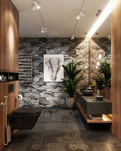 The master bathroom design has a creative bathroom layout, modern bathroom furniture design and exquisite bathroom accessories .
