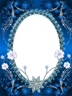 Beautiful Dark Blue Transparent PNG Photo Frame