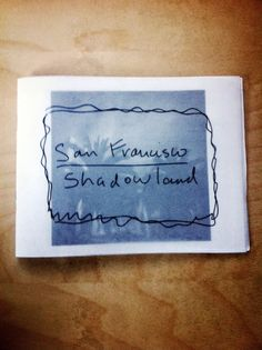 A cute little book by Paul Romaniuk about San Francisco.   Review by Dan Milnor  and available at Carte Blanche in SF! :)
