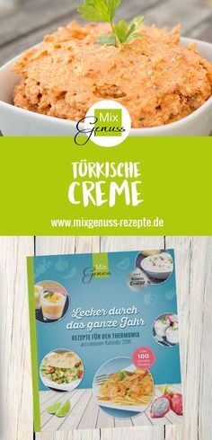 Türkische Creme – MixGenuss Blog Keto Stuffing, Kitchen Queen, Feta Dip, Baked Donuts, Cooking Chef, Appetizer Dips, Chutney, Clean Eating, Food And Drink