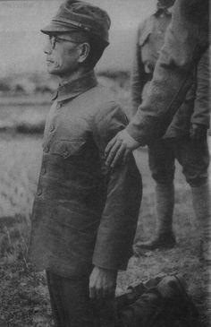 Gen. Hisaichi (or Hisakazu) Tanaka, Hong Kong occupier, moments before his execution in China on March 27, 1947
