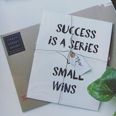 Hang this beautiful 'Success is a series of small wins' inspirational print on your walls Materials: Archival Paper, Ink, Love ◦ Made to order ◦ Frame is not included in the purchase ◦ Handmade in USA