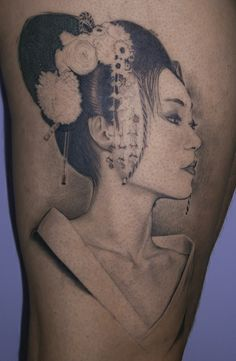 Geisha tattoo wonderful face