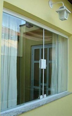 Modelos de Janelas de Blindex Window Seat Curtains, House Design, Aluminium Windows And Doors, House, Interior Decorating, Windows And Doors, Small Balcony Decor, New Homes, Minimalist Home