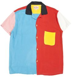 Levi's Vintage Clothing Rockets Bowling Shirt Multicolour | Lost & Found