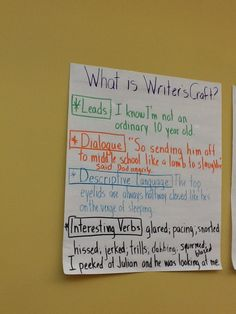 The fifth graders are learning how to make their writing pop by incorporating writers' craft.