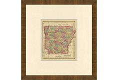 Arkansas Map, 1857 on OneKingsLane.com199