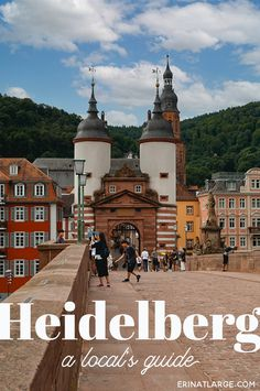 Get the local's guide to the best sightseeing, cafes, and views in the historic town of Heidelberg, Germany. via @erinehm Road Trip Europe, Europe Travel Guide, Europe Destinations, Travel Guides, Travel Around The World, Around The Worlds, Berlin, European Travel, Germany Travel