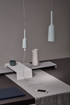 Lotte Douwes. Her Table Landschapes that give you the possibility to present things differently on a table. Her porcelain lamp & socket are so beautiful too #dutchdesign #gimmii