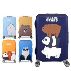 Fashion Brand Luggage Protection Cover Cartoon Trolley Case Dustproof Elastic Cover Travel Accessories For Inch Suitcase – on Aliexpress Cute Luggage, Luggage Cover, School Accessories, Travel Accessories, Cute Suitcases, We Bare Bears Wallpapers, Pop Stickers, Trolley Case, We Bear