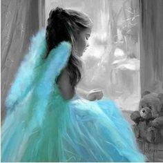 """""""splash"""" of color / angel / color blue"""