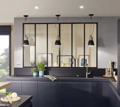 I thought a window with iron bars between the kitchen and the dining room could be a nice reminder of the iron also part of other room in your apartment. Just an idea ! House Design, Interior Windows, Home, House Inspiration, Bars For Home, Home Deco, Small Kitchenette, Kitchen Places, Minimalist Kitchen Design