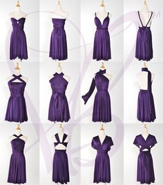 Purple Convertible Bridesmaid Dress