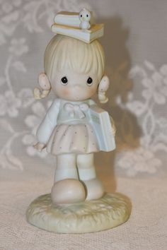 Precious Moments Enesco September 1988 Porcelain Figurine of the Month Sam…