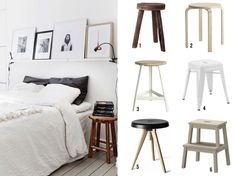 Stool Bedside Table