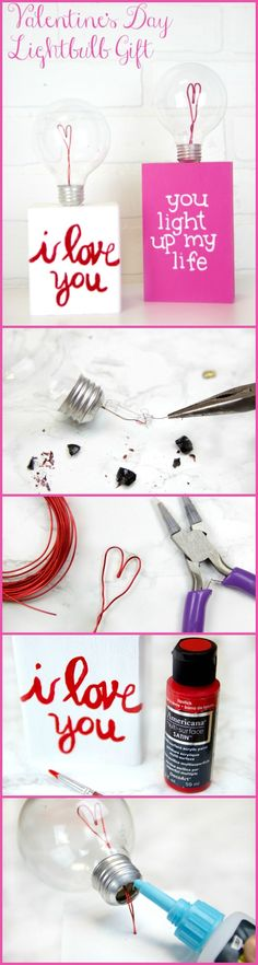 Lightbulb Valentine's Day Inspiration! The perfect gift to remind your love of the love you both share!