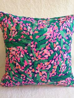 Lilly Pulitzer PillowLilly Pillow CoverDorm by SweetBabyBurpies, $30.00