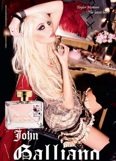 Taylor Momsen for Parlez-moi d'Amour perfume by John Galliano.