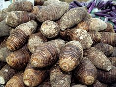 Taro root is a common perennial root veggie, a great addition to Asian dishes