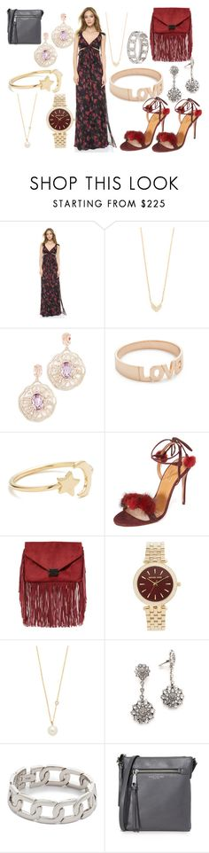 """Red Roses.....!!"" by hillarymaguire ❤ liked on Polyvore featuring Thakoon, EF Collection, Oscar de la Renta, Kismet by Milka, Ariel Gordon, Aquazzura, Loeffler Randall, Michael Kors, ZoÃ« Chicco and Alexander Wang"