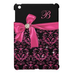 Elegant Black Pink Damask Diamond Bow Monogram iPad Mini Covers we are given they also recommend where is the best to buyShopping          Elegant Black Pink Damask Diamond Bow Monogram iPad Mini Covers Review on the This website by click the button below...