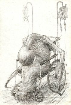 Creepy Drawings by Kirill Semenov